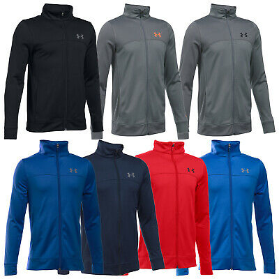 Under Armour Junior Pennant Warm Up Jacket - New UA Full Zip Training Top 2018