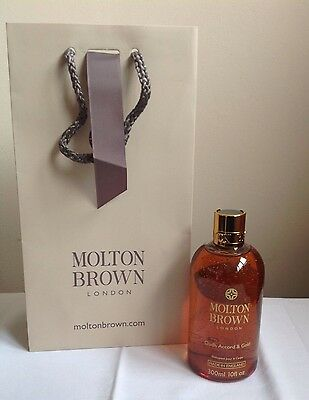 Molton Brown Oudh Accord & Gold Body Wash 300ml with gift bag