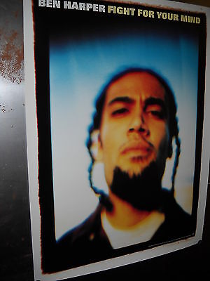 BEN HARPER 1995 large PROMO POSTER Fight For Your Mind mint condition