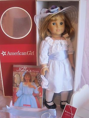 American Girl Doll Nellie with Meet Hat purse necklace accessories New in box