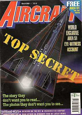 Aircraft Illustrated 2000 March Airtours,Hunter,Sea Harrier,Area 51
