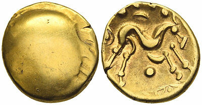 FORVM Gold Stater Celtic Ambiani NE Gaul Funded War Against Julius Caesar