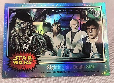 Free Postage TOPPS 75th Anniversary Rainbow Foil card 69 Star Wars Parallel