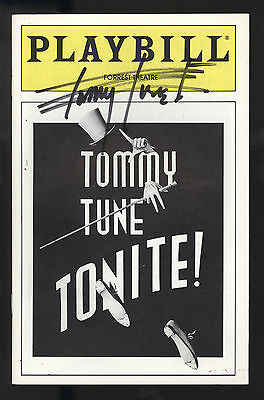 Tommy Tune Tonite!! Forrest Theatre Playbill 1993 Signed on Cover Tommy Tune VG