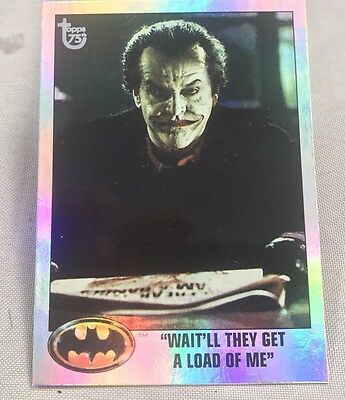 Free Postage TOPPS 75th Anniversary Rainbow Foil card 91 Batman Parallel