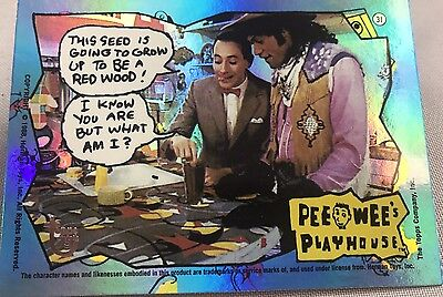 Free Postage TOPPS 75th Anniversary Rainbow card 89 Pee-Wee's Playhouse Parallel