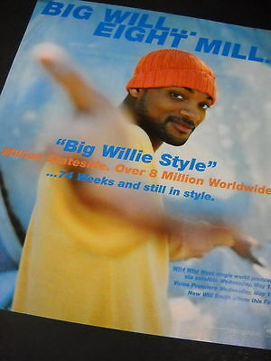 WILL SMITH 1999 Promo Poster Ad from BIG WILLIE STYLE