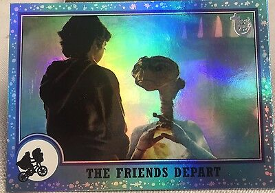 Free Postage TOPPS 75th Anniversary Rainbow Foil Parallel card 80 E.T.
