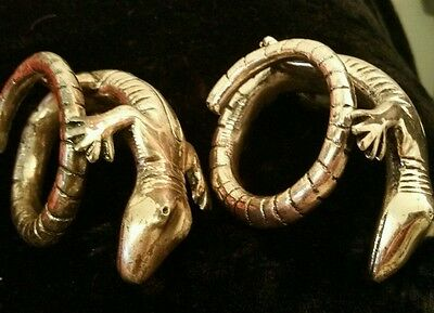 Vintage Silver Plated Alligator Napkin Holders