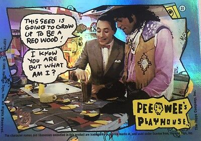 TOPPS 75th Anniversary Rainbow Foil Parallel 89 Pee-Wee's Playhouse card