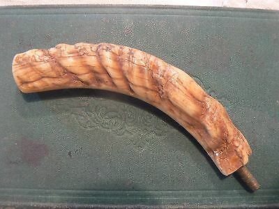 Unusual Antique Horn Antler  Cane / Walking Stick  Handle Top   Ap