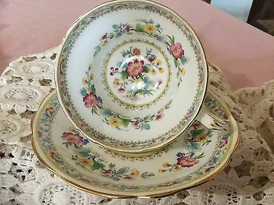 Eb Foley Bone China  Cup And Saucer England    Adoration Pattern