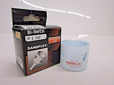 "New! Sandvik 2-1/16"" Bi-Metal Hole Saw, Sandflex  #3830-52-Us"