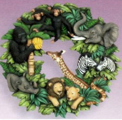 """Ceramic Bisque Ready to Paint """"Jungle""""  Wreath"""