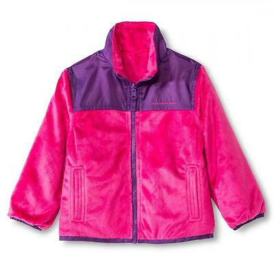 Weather Tamer Toddler Girls Pink Reversible Fleece Jacket Size 2T 3T 4T 5T