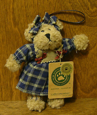 "Boyds Plush Ornaments #56271 Cappuccino Frenzy, 5"" NEW From Retail Store Jointed"