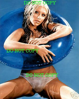 CHRISTINA AGUILERA - 8x10 Photo - WATER PANTIES SHOT