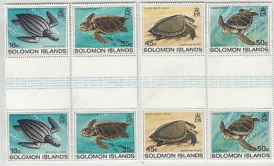 Solomon 1983 Turtles Sc 489-492 Gutter Pairs Complete Mint Never Hinged