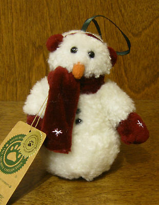 "Boyds Plush Ornament #56193 Bernice Blizzard 3.5"" NEW From Retail Store SNOWMAN"
