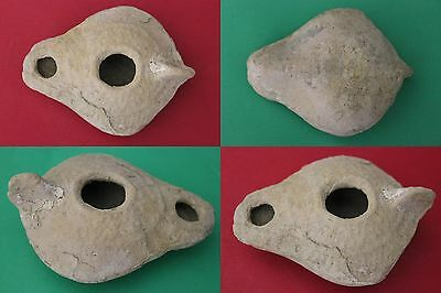GUARANTEED AUTHENTIC Holy Land Roman Oil Lamp 100-400 AD w/COA USA Seller M018