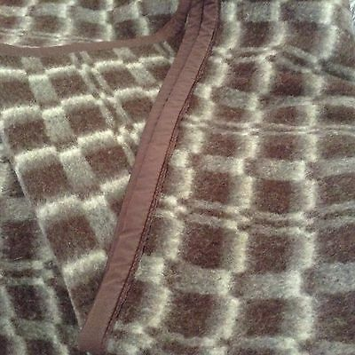 """Amazing WOOL BLANKET Thick & Rich LIKE 2 BLANKETS TOGETHER! Gently used 78x58"""""""