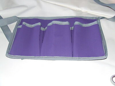 Ecotak Canvas Grooming Apron - Purple with silver trim Ecotak