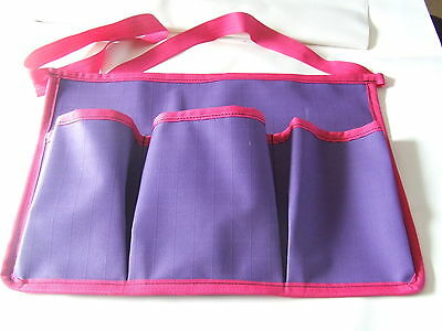 Ecotak Canvas Grooming Apron - Purple with Pink trim Ecotak