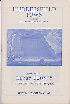 HUDDERSFIELD TOWN v DERBY COUNTY 65-66 LEAGUE MATCH