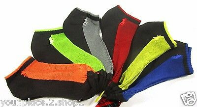 Polo Ralph Lauren Men's Athletic Black Contrast Logo Low Cut Socks Pack of 6