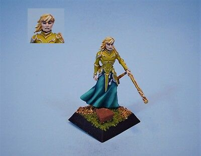 Confrontation painted miniature Elven Quarterstaffer