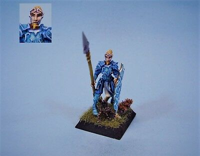 Confrontation painted miniature Elven Pikeman