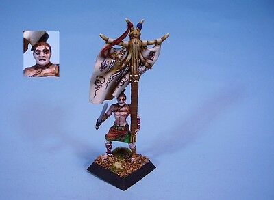 Confrontation painted miniature Barbarian Standard Bearer