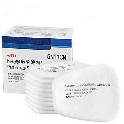 5n11 N95 Cotton Filters For 3M 6100/6800/6200 Respirator Painting Gas Dust Mask