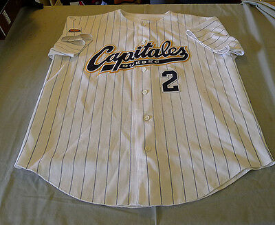 2001 Benoit Emond Quebec Capitales Can-Am League Game Worn Used Baseball Jersey