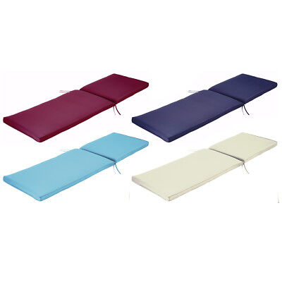 Charles Bentley Sunlounger Sunbed Cushion Garden Patio Furniture - 4 Colours