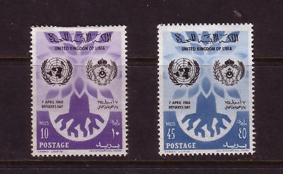 Libya 1960 World Refugee Set Mint Never Hung SG240-1
