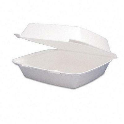 Dart Carryout Hinged One-Compartment Foam Food Containers (Case of 200)