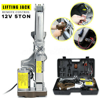5 Ton 12V Automatic Electric Car Jack Scissor Lift Garage Vehicle Tire Repair