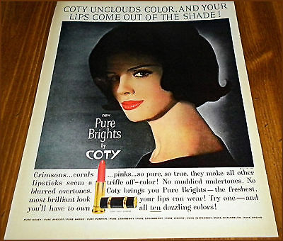 1962 COTY COSMETICS AD~Vintage Make-up~Lipstick
