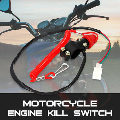 Motorcycle Bike Scooter ATV Engine Stop Tether Lanyard Closed Kill Switch Safety