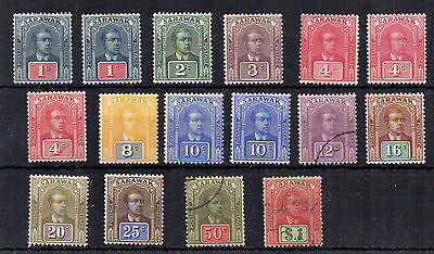 Sarawak 1918 set to $1 + shades  mint and used