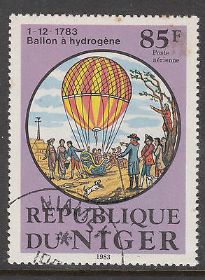 NIGER 1983 Manned Flight Balloon 85f Fine Used