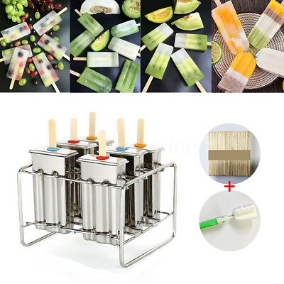 Stainless Steel Ice Pop Molds Ice Lolly Popsicle Ice Cream Bars Stick Holder