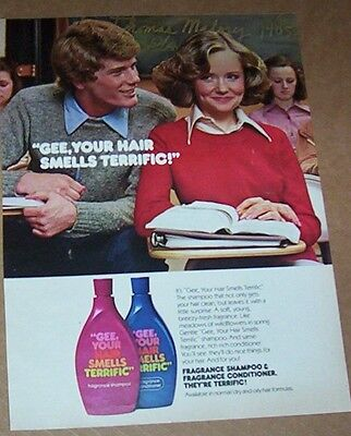 1977 print ad page - GEE Your Hair Smells Terrific school Girl Boy PHOTO Advert