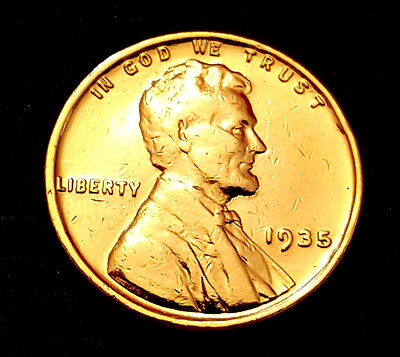 1930 s US Gold Wheat Shield Cent C Abraham Lincoln Coin United States Man Old UK