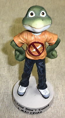 "Jenkins Enterprises Hippie Frog "" Please Don't Smoke I May Croak"" figurine #5083"