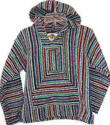 Earth Ragz Kidz Baja Hoodie Mexican Rug Pullover Youth Boys Girls Medium Poncho