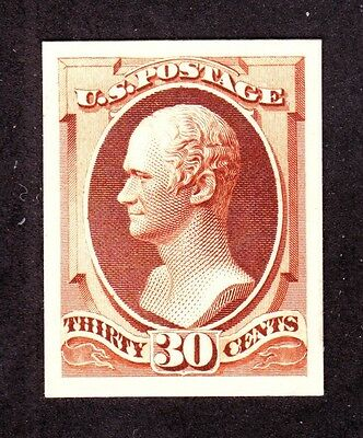US 217P4 30c Hamilton Plate Proof on Card XF Gem