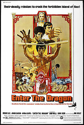 Enter The Dragon Laminated Mini A4 Poster Kung Fu Style 1