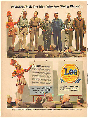 1942 Vintage ad for Lee's`Union Made clothes Photos retro Fashion WWII (042717)